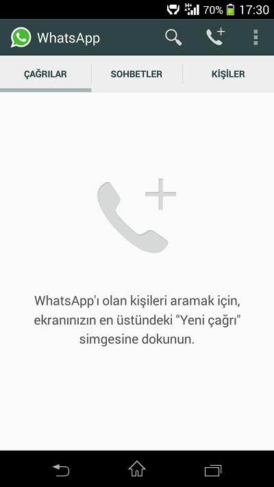 WhatsApp Sesli Arama