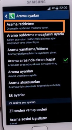 arama-reddetme