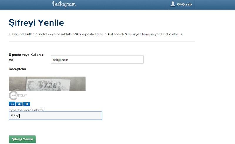 instagram-sifre-yenile