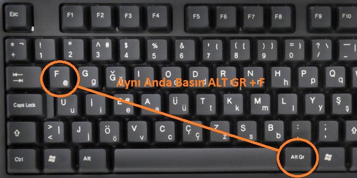 et isareti f klavye
