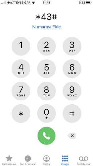 cagri bekletme iphone