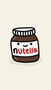 cute-nutella-jar-illustration-android-wallpaper