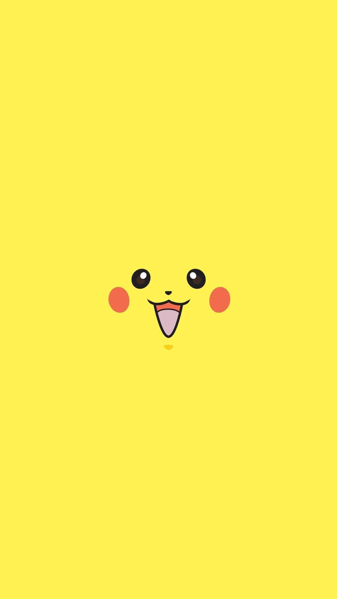 pikachu-pokemon-go-character-minimal-android-wallpaper