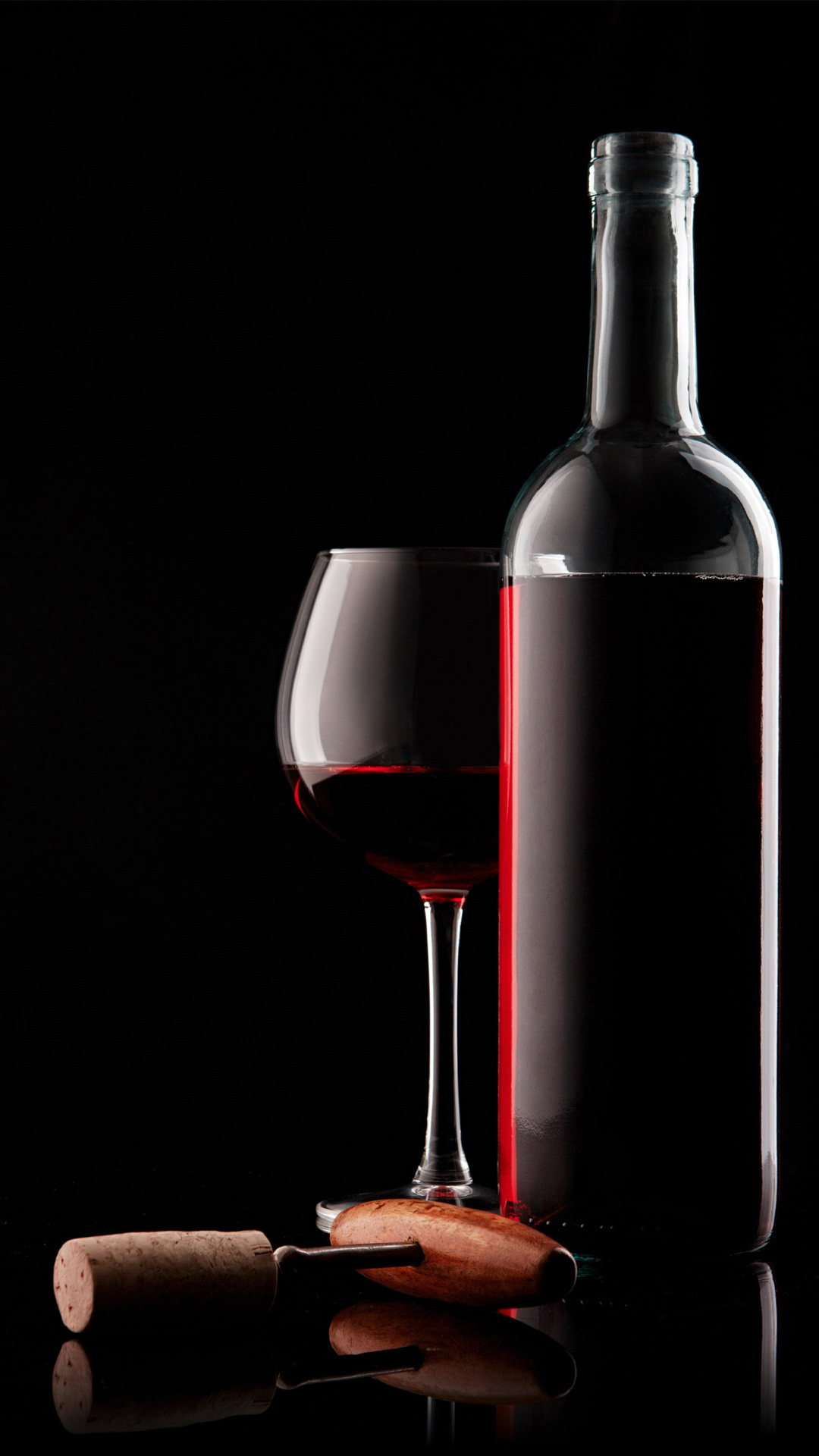 red-wine-glass-bottle-and-corkscrew-android-wallpaper