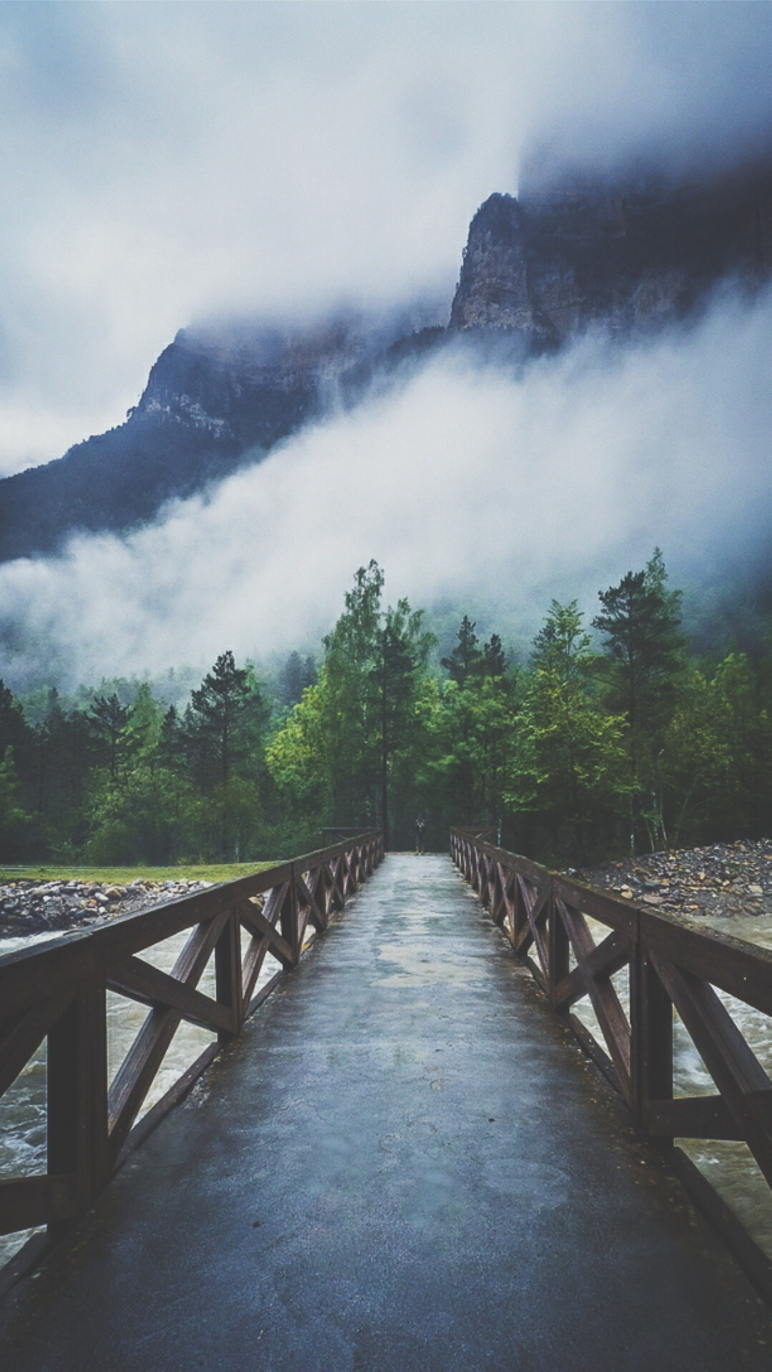 river-crossing-forest-bridge-mist-android-wallpaper