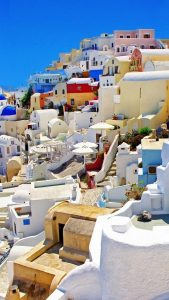 santorini-greece-colorful-houses-android-wallpaper