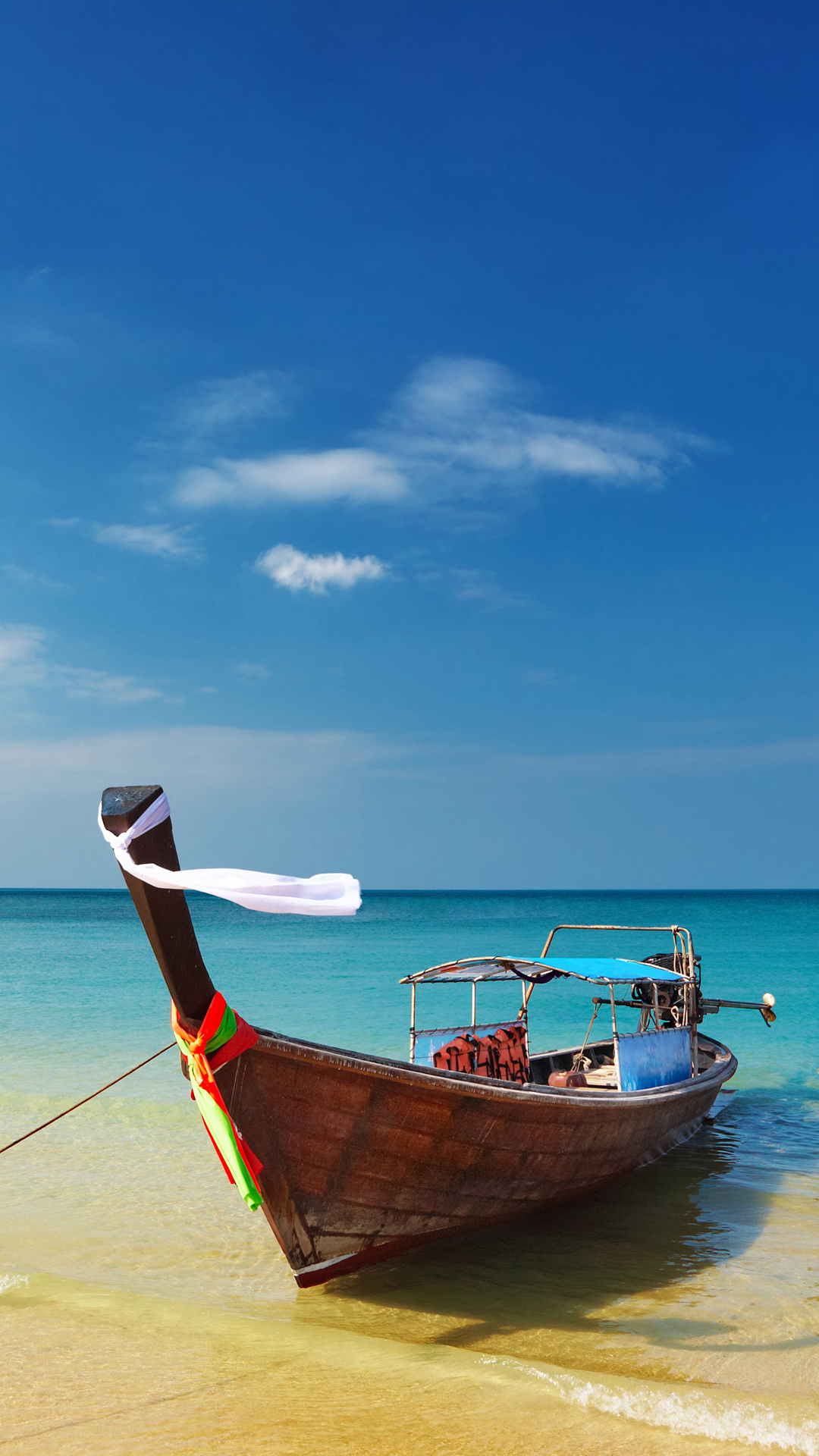 thailand-beach-shore-boat-android-wallpaper