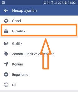 mobil facebook hesap dondurma 2
