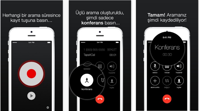 telefon görüşmelerini kaydetme app