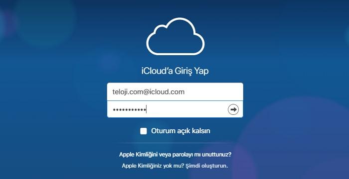 icloud giris