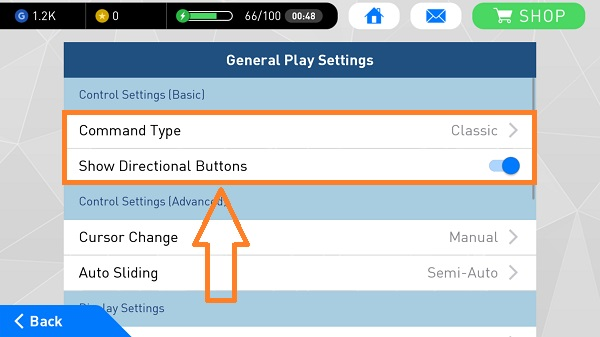 pes2017 command type show directional buttons