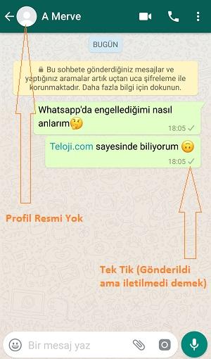 whatsapp engellenmek