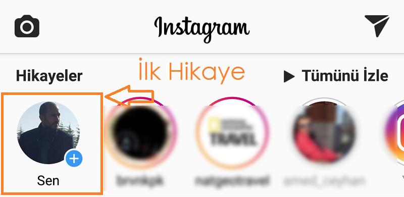 instagram hikaye paylasma