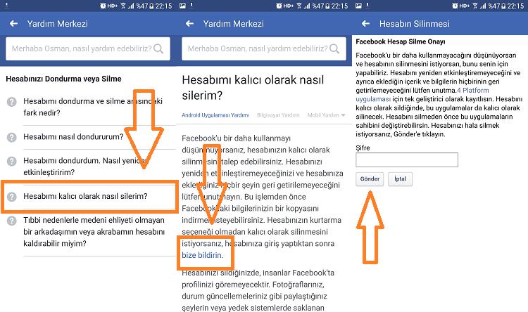 facebook hesap silme mobilden 2