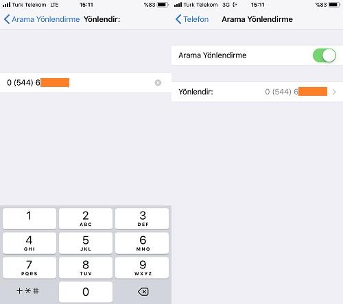 iphone arama yonlendirme 2