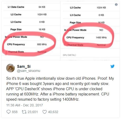 iphone cpu frekansi tweet