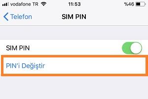 iphone pin degistirme