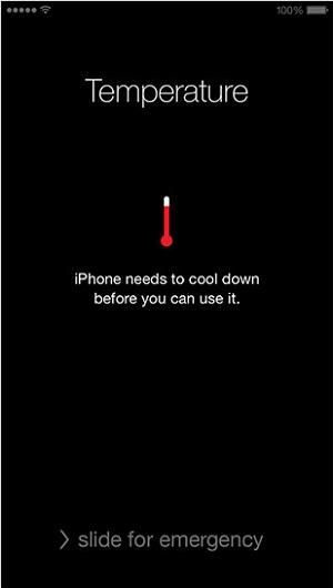 iphone sicaklik