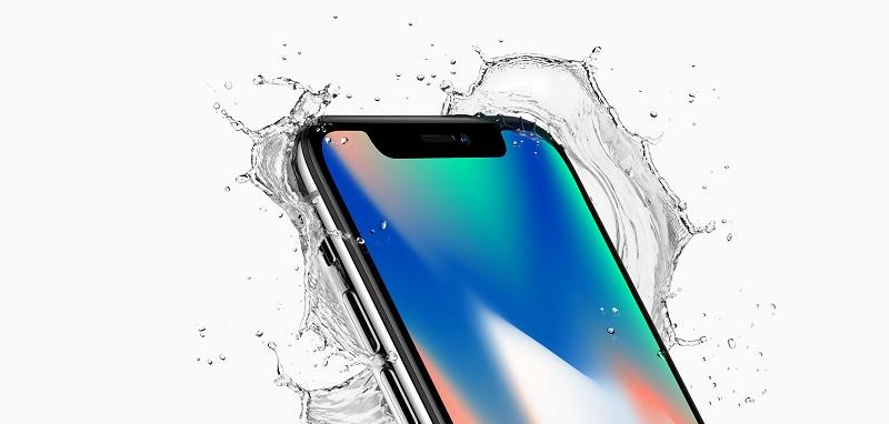 iPhone X water