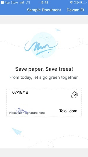 telefondan dosya pdf imzalama