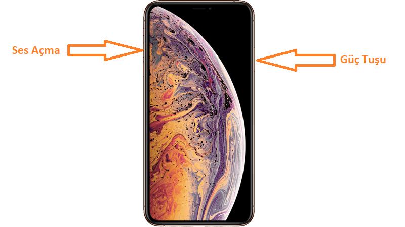 iphone xs max ekran goruntusu alma