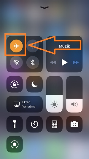 iphone ucak modu