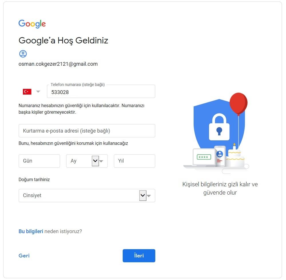 google gmail eposta acma 2