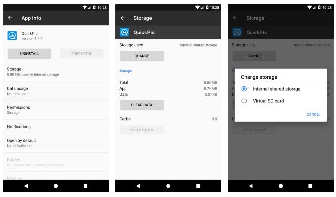 uygulamalari sd karta tasima android 7 nougat
