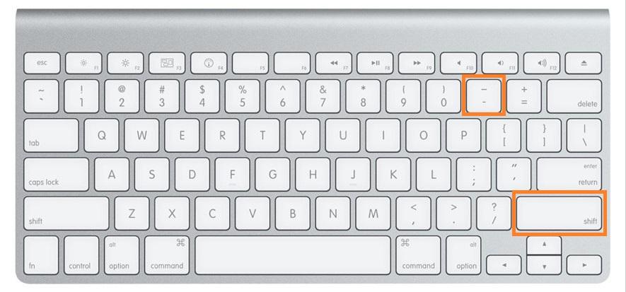 apple mac klavye alt tire
