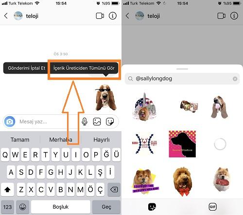 instagram cikartma paketi arama