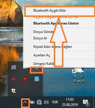 bluetooth aygiti ekle