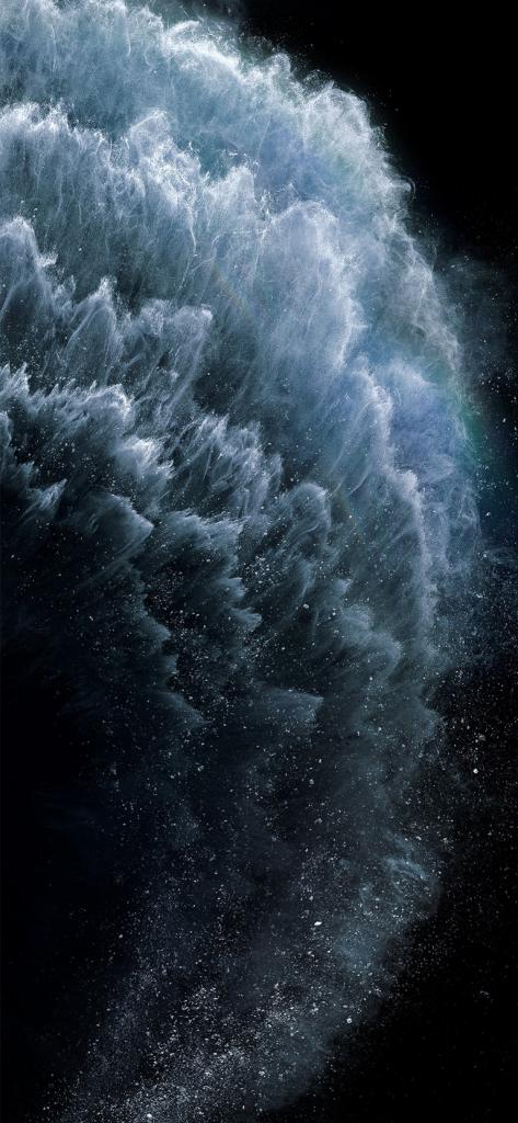 iPhone 11 Pro stock wallpaper via AR72014 blue