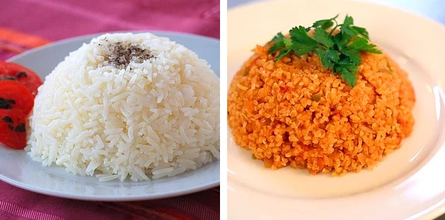 pirinc bulgur pilavi