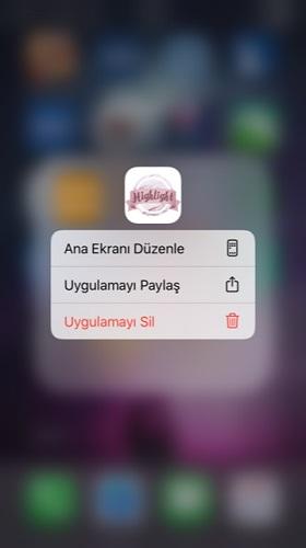 iphone klasordeki uygulamayi silme