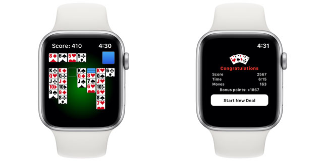 solitaire apple watch