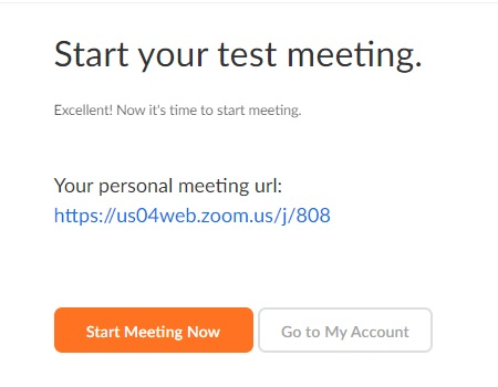 zoom start your test meeting