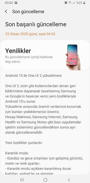 android son guncelleme