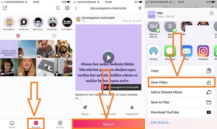 iphone instagram video indirme 2