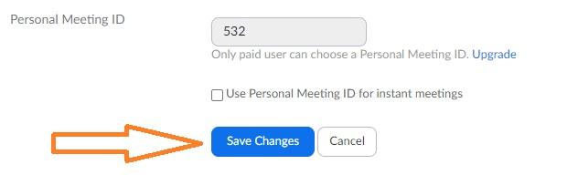 zoom personal meeting id degistirme 2