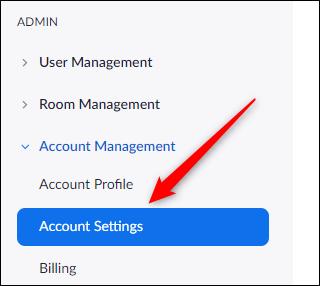 zoom account setting