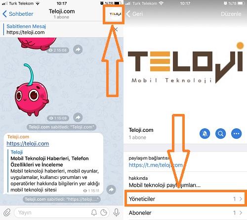 telegram kanala yonetici ekleme