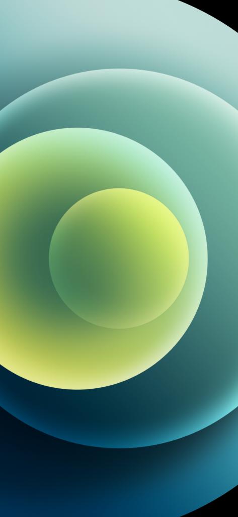 iPhone 12 light green wallpaper