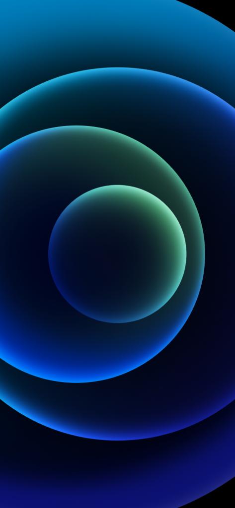 iPhone blue dark wallpaper