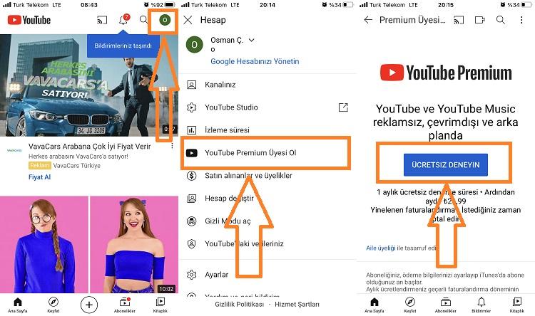 youtube premium satin alma 1