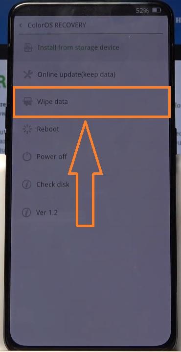 oppo hard reset wipe data
