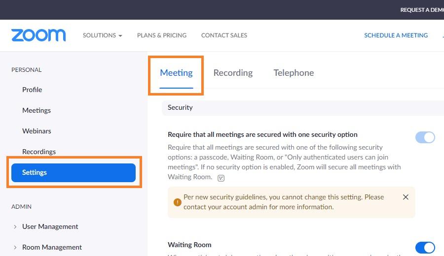 zoom settings meeting