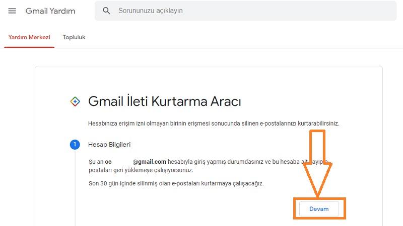 gmail mail kurtarma araci 1
