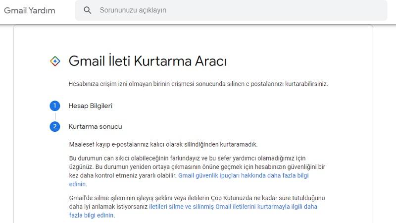 gmail mail kurtarma araci 2