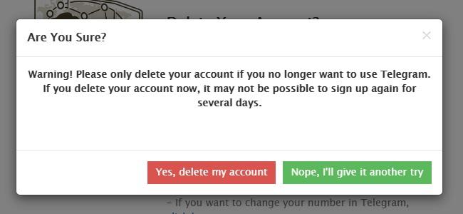 yes delete my account