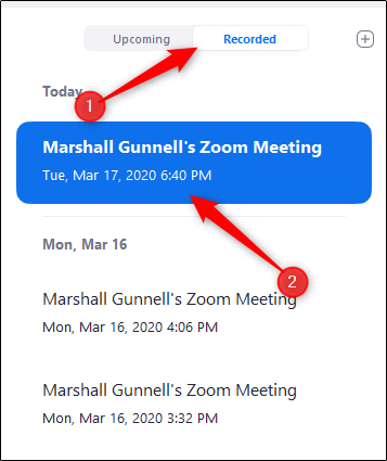 zoom meetings recorded